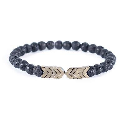 Bracelet perles de lave - Diffuseur d\'huile essentielles