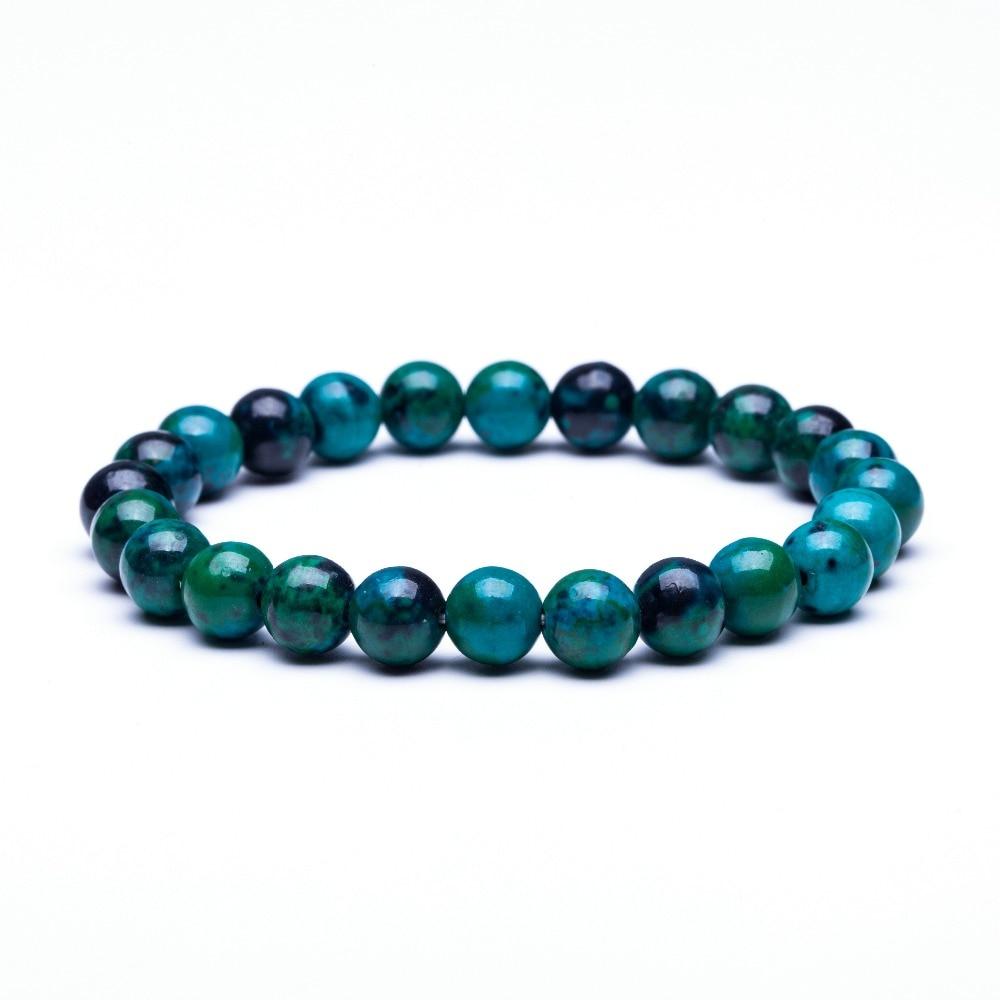 Bracelet Œil du tigre - Perles bleues en pierres naturelles