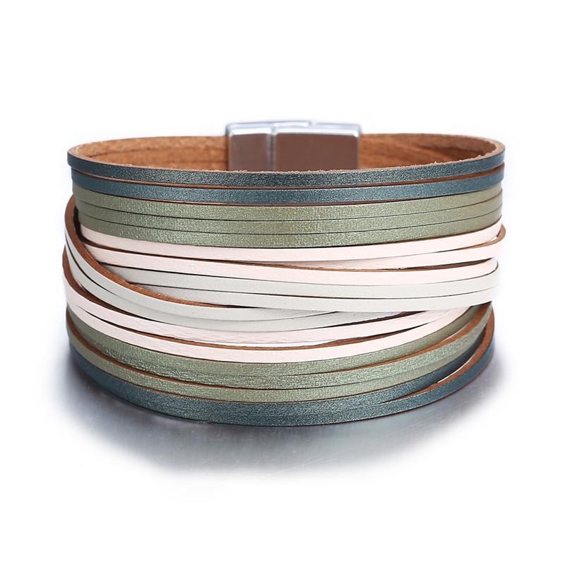 Bracelet lamelles de cuir - LING