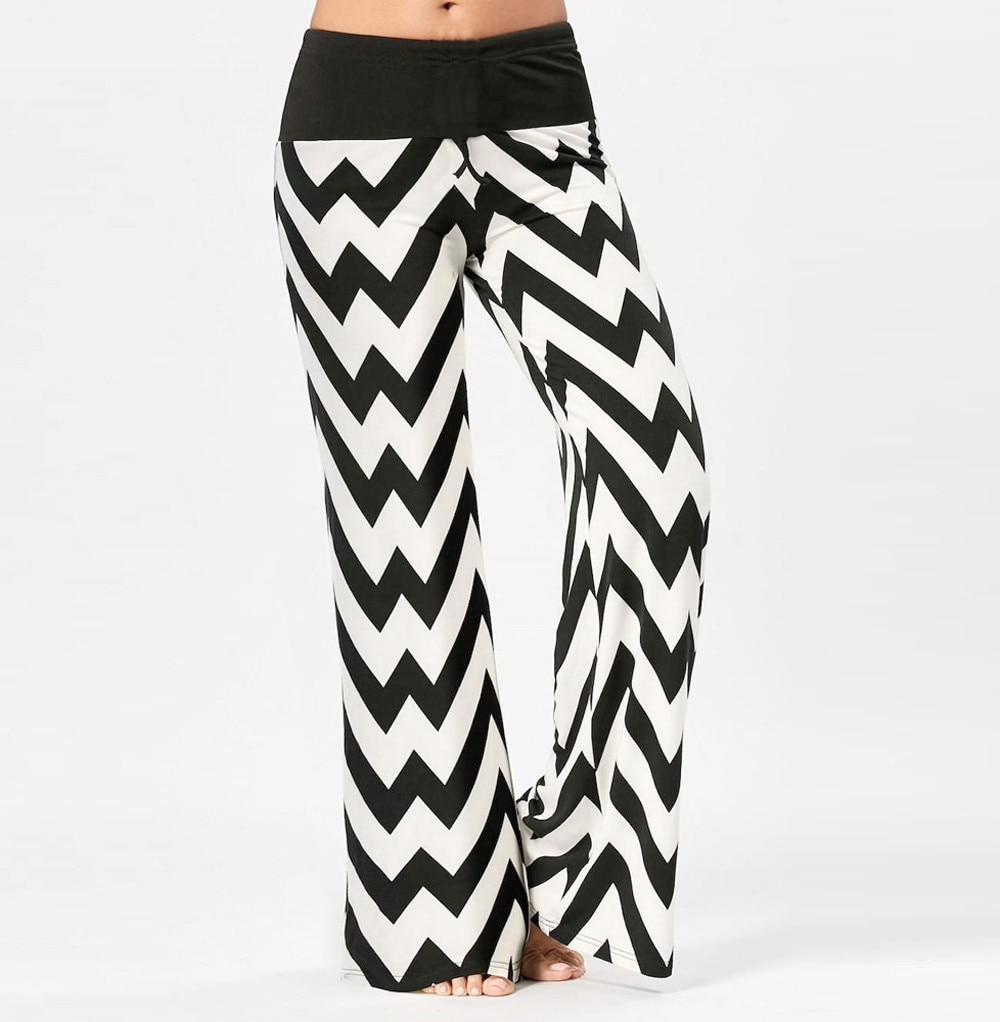 Pantalon de yoga taille basse vagues angulaires
