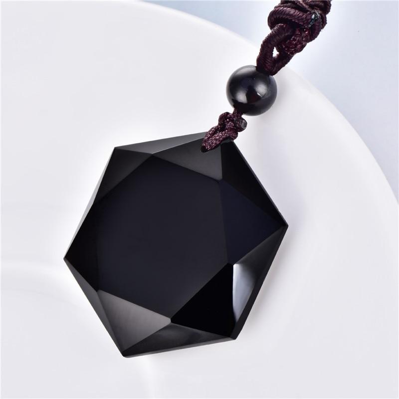 Pendentif en pierre d'obsidienne pour la méditation Reiki
