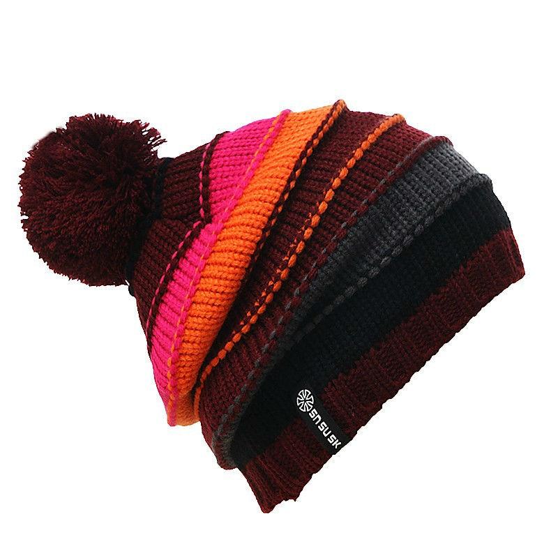 Bonnet à pompon en coton pour le ski mais pas sur la Garonne
