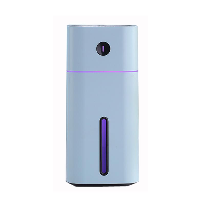 Diffuseur d\'huile essentielle ultrasons carré humidificateur purificateur d\'air LED veilleuse USB
