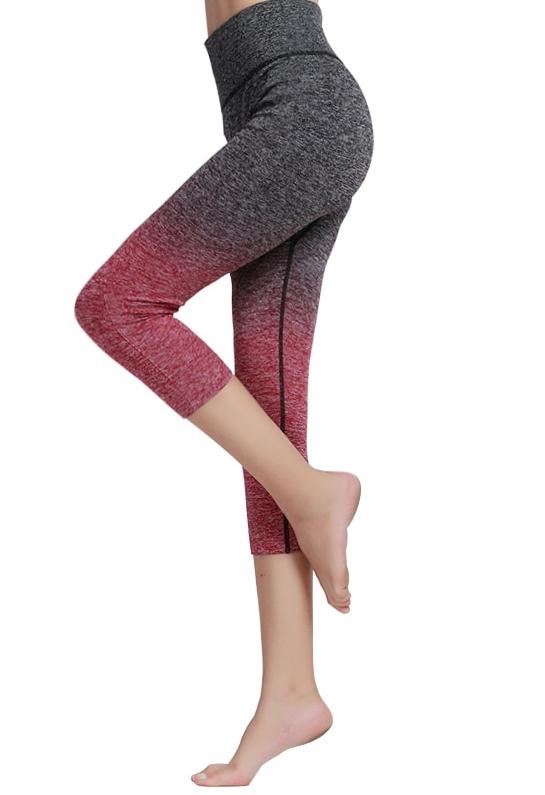 Pantacourt bicolore pour le sport et le fitness – Leggings  pantalon court pour le yoga