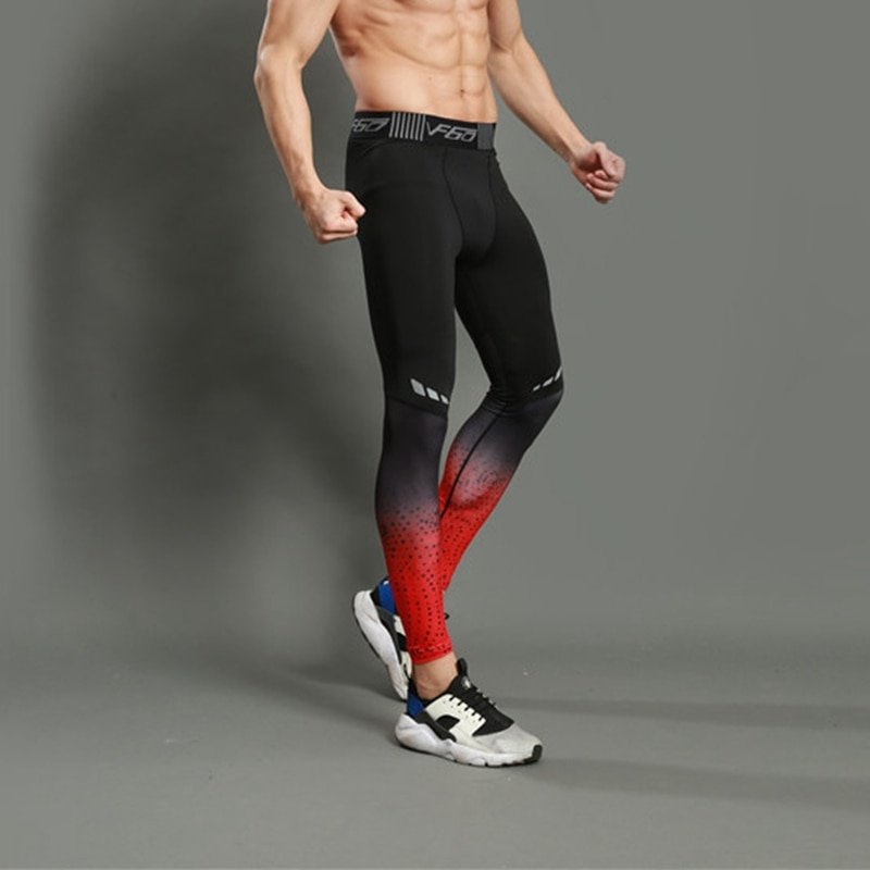 legging homme pour course à pied footing fitness collant de compression pour brûler des calories