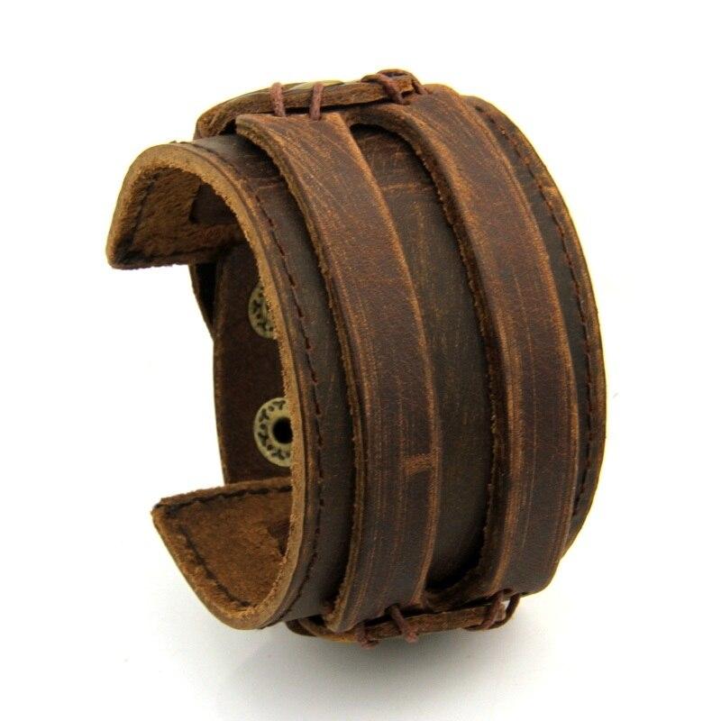 Bracelet de Force cuir effet usé