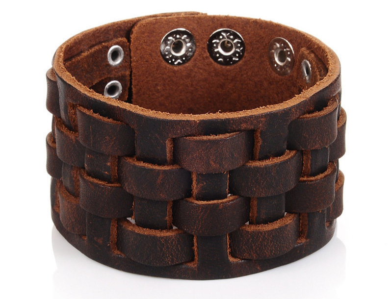 Bracelets marron Punk manchette