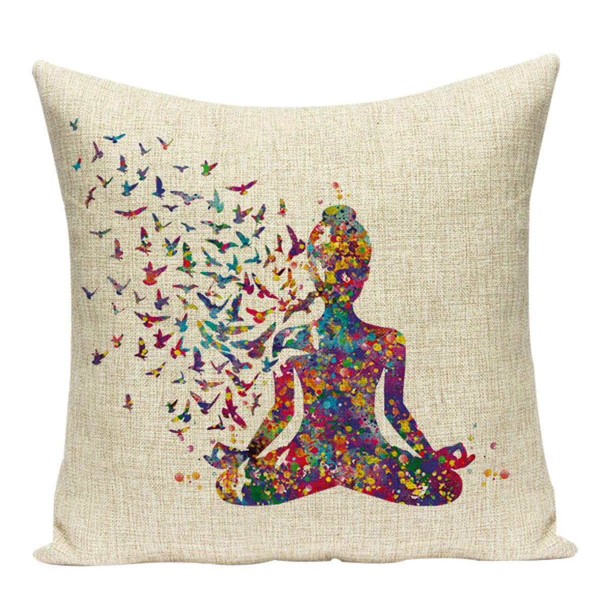 Coussin motif zen