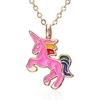 CHEVAL-Collier-Pour-Filles-Enfants-Enfants-mail-Cheval-de-Bande-Dessin-e-bijoux-accessoires-Femmes-Animal