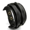 BAMOER-cuir-manchette-Double-large-Bracelet-corde-bracelets-marron-pour-hommes-mode-homme-Bracelet-unisexe-bijoux