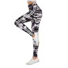 Femmes-Camo-Legging-deux-c-t-s-rayures-blanches-Leggings-Skinny-taille-lastique-femmes-extensible-jambi