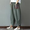 Sarouel-Pantalon-Femme-Harem-Pantalon-Boho-Vintage-coton-lin-Pantalon-large-jambe-2019-femmes-Hippie-Pantalon