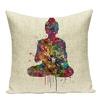 Cr-atif-sud-est-Zen-lin-taie-d-oreiller-imprim-e-Style-folklorique-aquarelle-coussins-oreiller