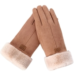 Nouvelle-mode-femmes-gants-automne-hiver-mignon-fourrure-chaud-mitaines-plein-doigt-mitaines-femmes-Sport-de