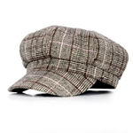 COKK-casquette-Newsboy-pour-hommes-et-femmes-bonnet-plat-carreaux-octogonaux-de-peintre-automne-hiver-d