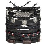 Bracelet en cuir avec symboles