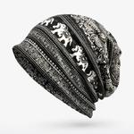 COKK-Turban-Chapeau-Femelle-D-hiver-Beanie-Bas-Chapeaux-pour-Femmes-Hommes-l-phant-Motif-Skullies