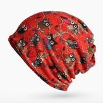 COKK-Turban-Chapeau-Femelle-D-hiver-Chapeaux-Pour-Femmes-Hommes-Skullies-bonnets-Hibou-Motif-Bonnet-Beanie