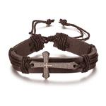 Nouveau-Mode-Hommes-Bijoux-Vintage-En-Cuir-Bracelets-et-Bracelets-En-M-tal-Croix-J-sus
