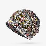 COKK-Turban-Chapeau-Femelle-Femmes-de-Chapeaux-D-hiver-Pour-Hommes-Skullies-Bonnets-Plaid-Motif-Hiver