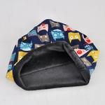 COKK-Chapeaux-D-hiver-Pour-Femmes-Chat-Motif-Beanie-Bonnet-Tricot-chapeau-Femelle-Velours-pais-Chaud