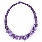 Africain-Chunky-D-claration-Pendentif-Collier-Ethnique-Pierre-Naturelle-Colliers-Bijoux-Violet-Gem-Quartz-Collier