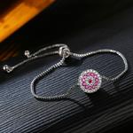 USTAR-Cristaux-Ronde-Charme-Bracelets-pour-les-femmes-Micro-Pav-e-Zircon-Argent-couleur-r-glable