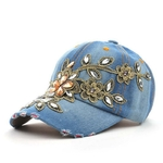 COKK-Femmes-de-Casquette-de-Baseball-Diamant-Peinture-Broderie-Fleur-Denim-Snapback-Chapeaux-Jeans-Femme-Femme