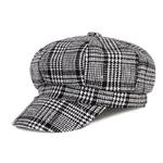 COKK-Femmes-Gavroche-Cap-Automne-Hiver-Noir-Blanc-Chapeaux-de-Feutre-Pour-Les-Femmes-Vintage-pais