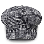 COKK-Gavroche-Cap-Plaid-Octogonale-Chapeaux-Pour-Femmes-Hommes-Classique-Vintage-B-ret-Automne-Hiver-Chapeaux