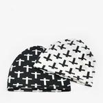 COKK-Turban-Chapeau-Femmes-Croix-Motif-Beanie-Chapeaux-Pour-Hommes-Os-D-automne-D-t-Chapeau