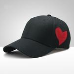 COKK-Casquette-de-Baseball-Femmes-Coeur-Forme-Snapback-Chapeaux-Pour-Hommes-Noir-Papa-Chapeau-R-glable