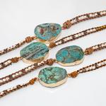 Unique-Mixte-Pierres-Naturelles-Dor-Pierre-Charme-5-Brins-Bracelets-D-enveloppe-La-Main-Boho-Bracelet