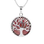 woogalf-rouge-naturel-rond-pierre-gemme-kabbale-arbre-de-vie-colliers-pendentifs-rose-quartz-cristal-blanc-lapis
