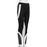 Legging-sport-fitness-nid-abeille-woogalf-mince-elastique-femme-sexy-face-droite