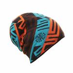 Bonnet-hiver-ski-motifs-leopard-traiteur-saint-woogalf-snowboard-innocent-phrygien-bleu-orange