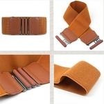 Woogalf-nouvelle-taille-ceintures-femmes-De-Mode-Lady-solide-Stretch-lastique-Large-Ceinture-Robe-large-Parure-6