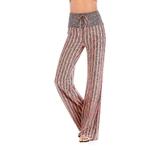 Femmes-Stripe-Imprimer-Yoga-Pantalon-L-che-Pantalon-Large-de-Jambe-Compl-te-Haute-Taille-Courir