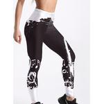 woogalf-Style-mode-en-femmes-Leggings-noir-et-blanc-Note-imprim-Leggings-taille-moyenne-pantalon
