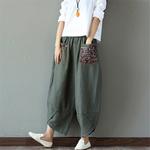 Sarouel-Pantalon-Femme-Harem-Pantalon-Boho-Vintage-coton-lin-Pantalon-large-jambe-2019-femmes-Hippie-Pantalon-woogalf-10