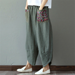 Sarouel-Pantalon-Femme-Harem-Pantalon-Boho-Vintage-coton-lin-Pantalon-large-jambe-2019-femmes-Hippie-Pantalon-woogalf-9