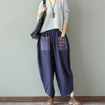 Sarouel-Pantalon-Femme-Harem-Pantalon-Boho-Vintage-coton-lin-Pantalon-large-jambe-2019-femmes-Hippie-Pantalon-woogalf-7