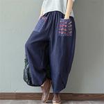 Sarouel-Pantalon-Femme-Harem-Pantalon-Boho-Vintage-coton-lin-Pantalon-large-jambe-2019-femmes-Hippie-Pantalon-woogalf-6