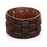 woogalf-fait-la-main-en-cuir-v-ritable-Bracelets-marque-de-mode-marron-Punk-large-manchette
