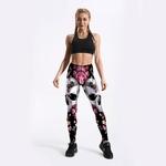 Femmes-imprim-fleur-cr-ne-jambi-res-d-exercices-v-tements-Sexy-entra-nement-jegging-Fitness