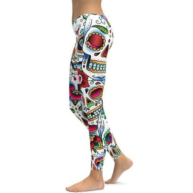 Leggings crossfit yoga fitness Motifs Skull Zone Sport