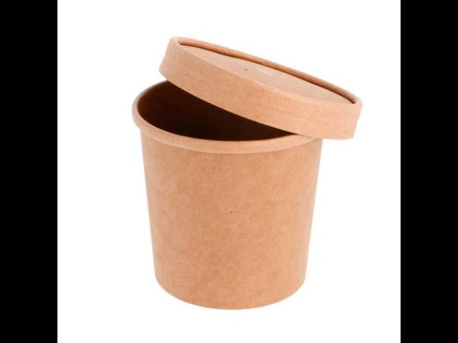 Pot à soupe en carton kraft 360 ml vendu en paquet de 25