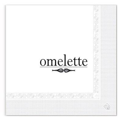 Serviettes ouate 39x39 cm 2 plis personnalisées avec votre logo 1 couleur (dès 7 cartons)