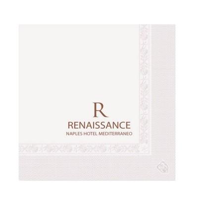 Serviettes ouate 25x25 cm 2 plis personnalisées avec votre logo 1 couleur (dès 7 cartons)