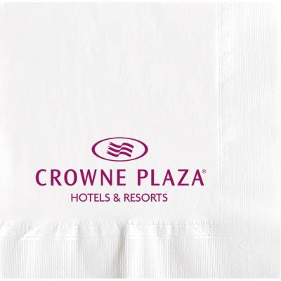 Serviettes ouate 20x20 cm 2 plis personnalisées avec votre logo 1 couleur (dès 7 cartons)